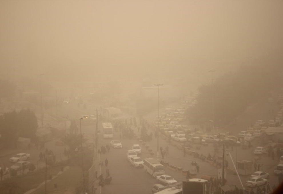 غبار در راه نواحی مرزی کرمانشاه